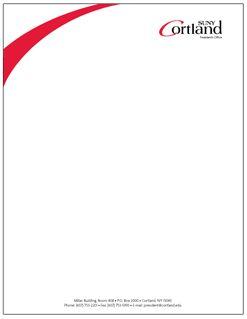 Color letterhead example