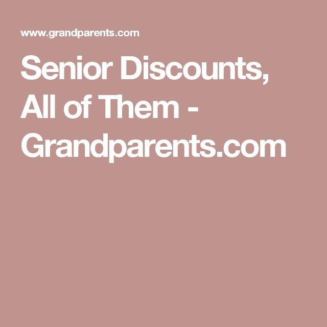 Senior Discounts, All of Them - Grandparents.com
