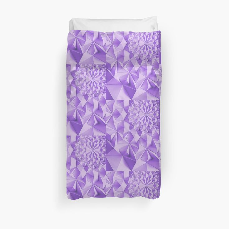 20% off pillows, mugs, & duvet covers. Use MAKEROOM20  Purple fractals pattern, triangles, geometric by cool-shirts