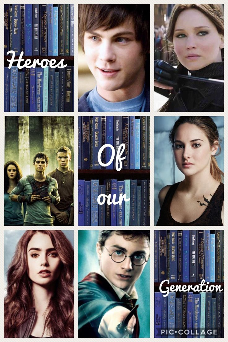 Percy Jackson/Heroes of olympus, The Hunger games, The Maze runner, Divergent, The Mortal instruments and Harry Potter