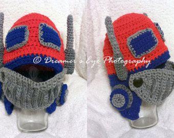 Optimus Prime Transformers Felt Mask fancy by MummyHughesy on Etsy