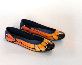 Monarch Butterfly Ballet Flats