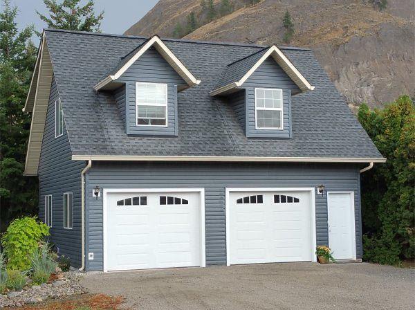 Garage Plan 96220, Order Code PT101 | Plan with 654 Sq. Ft., 1 Bedrooms, 1 Bathrooms, 2 Car Garage