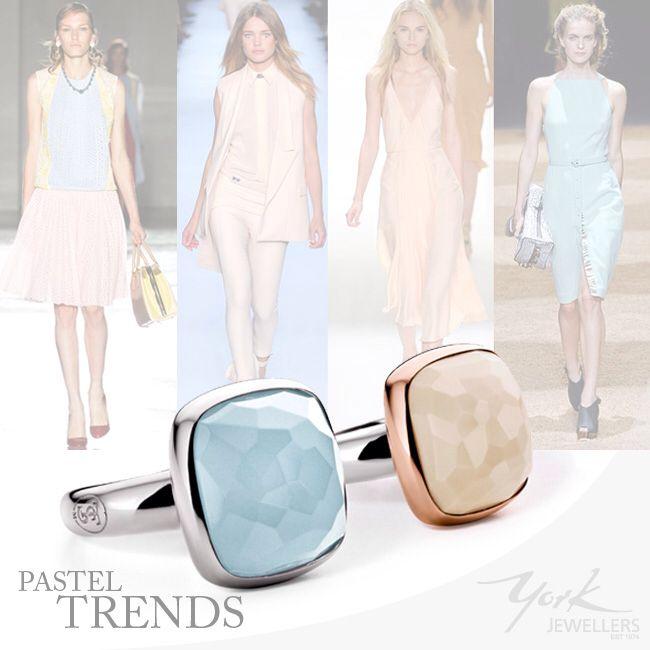 Pastel tones, perfect for Autumn. Peach or Blue? www.yorkjewellers.com.au #tisento