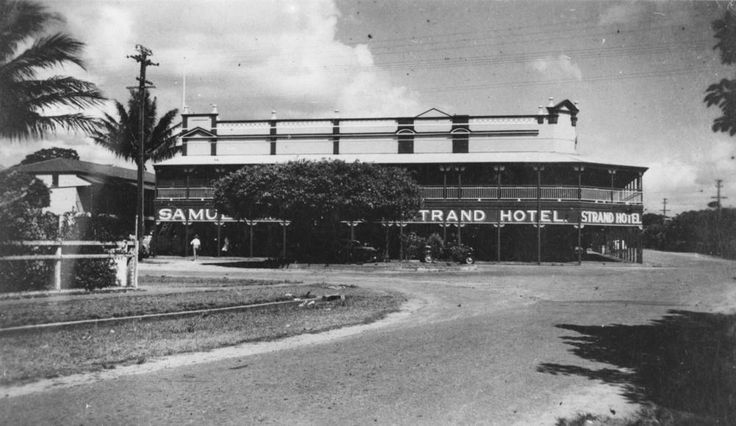 Side view of the Strand Hotel, Cairns, 1939