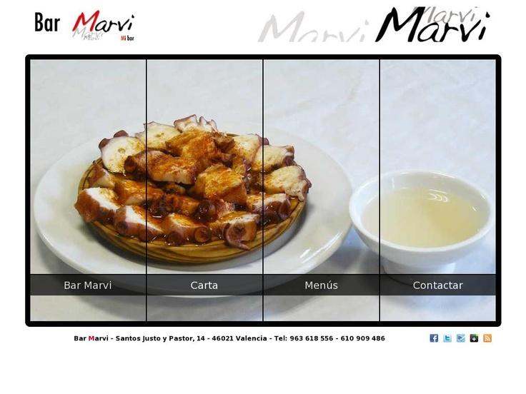 """Página Web del """"Bar Marvi"""" en Valencia"""