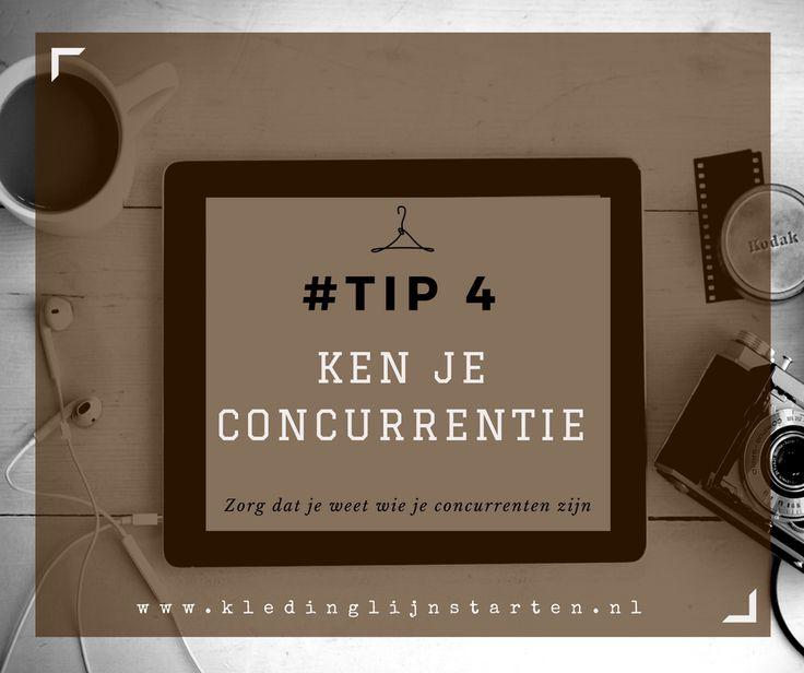Tip 4 Ken je concurrentie