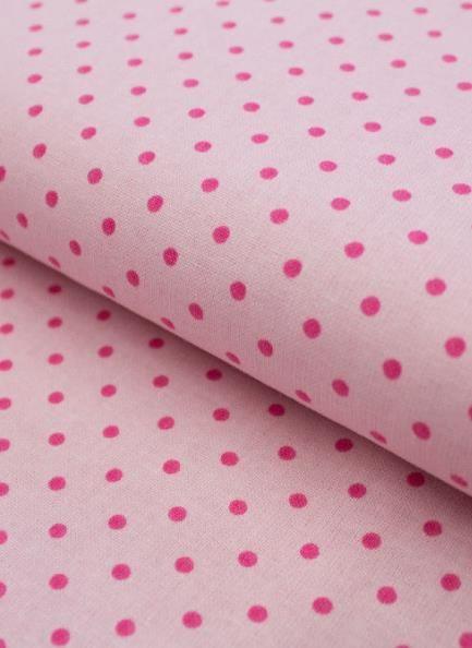 Pink gepunkteter Baumwollstoff - Stoff via Makerist.de