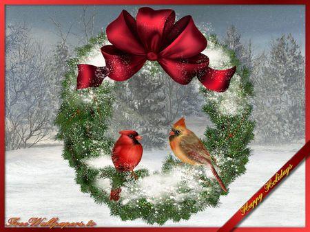 Pretty christmas wreath - 3D and CG Wallpaper ID 528657 ...