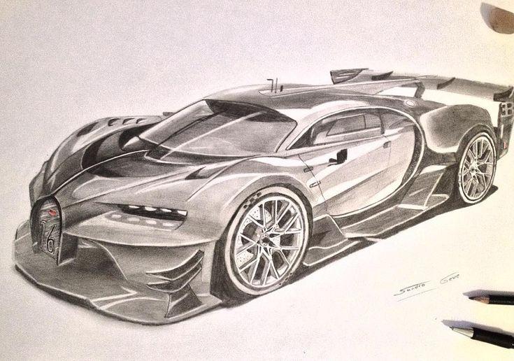 Bugatt Chiron #bugatti #chiron #bugattichiron #veyron #car #art #kunst #zeichnung #artist # ...
