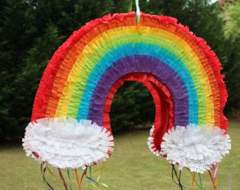 Rainbow Pinata with clouds