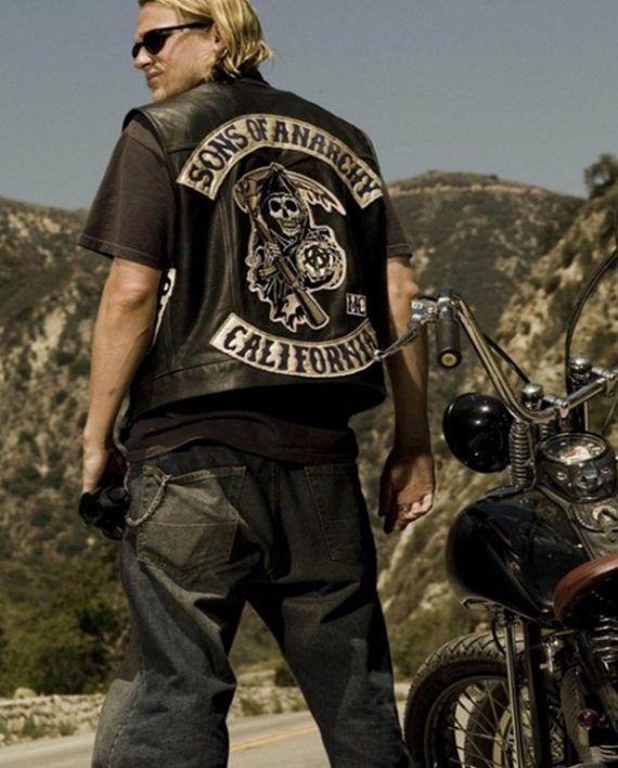 Charlie Hunnam Sons Of Anarchy Jax Teller Vest Top Celebs Jackets Sons Of Anarchy Jax Teller Anarchy