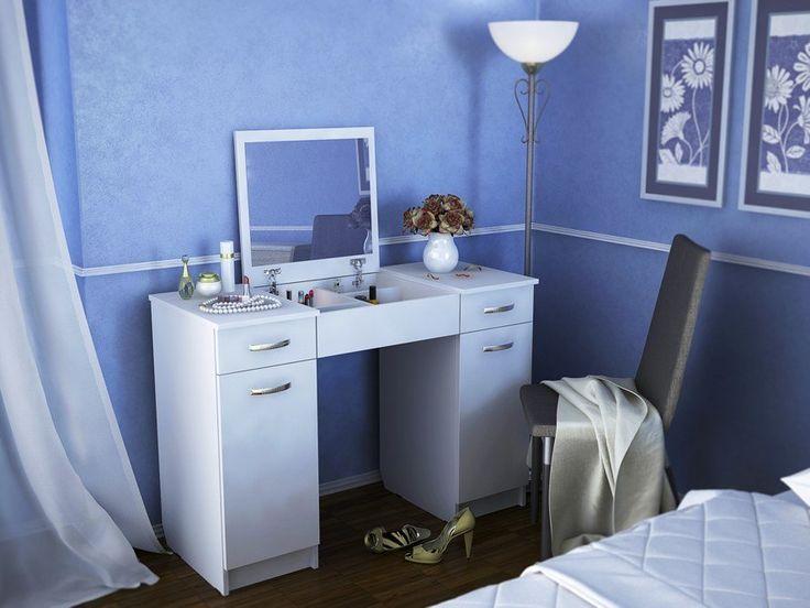 Туалетный столик с зеркалом Риано-5 Белый