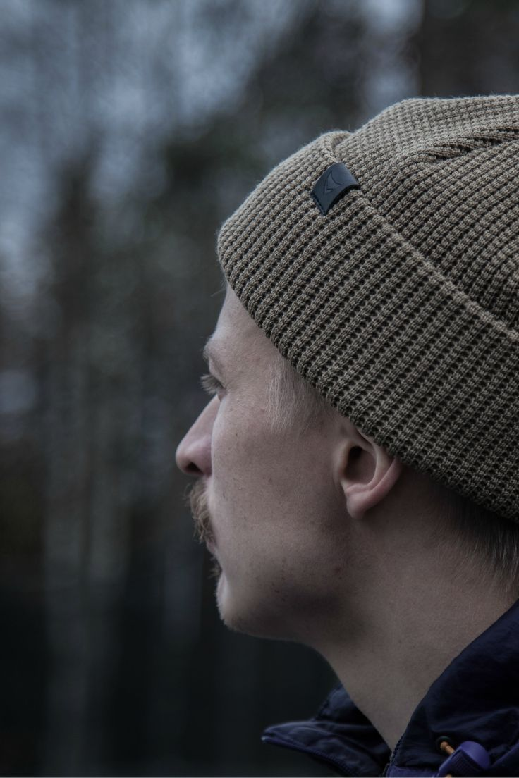 Flyfishing outfit for men. Wool Beanie look for outdoor adventures.