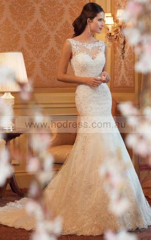 A-line Sleeveless Bateau Zipper Floor-length Wedding Dresses feaf1064--Hodress