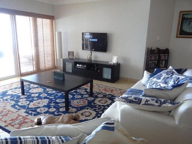 Glyndale Sands 302 in Uvongo. Top floor apartment with stunning sea-views of the South Coast of KZN. Sleeps 6.