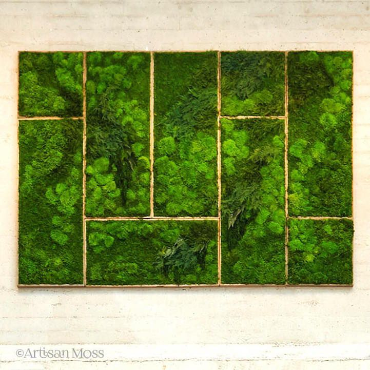 """Designer Erin Kinseyis something of a moss boss. Her handcrafted botanical artwork transforms one's living space by bringing the beauty of the outdoors, inside. Combining a dual passion for design and nature, she has established a company namedArtisan Mosswhichoffers one-of-a-kind plant wall art that is """"simple, forever green and maintenance free."""" Created using sustainably sourced …"""
