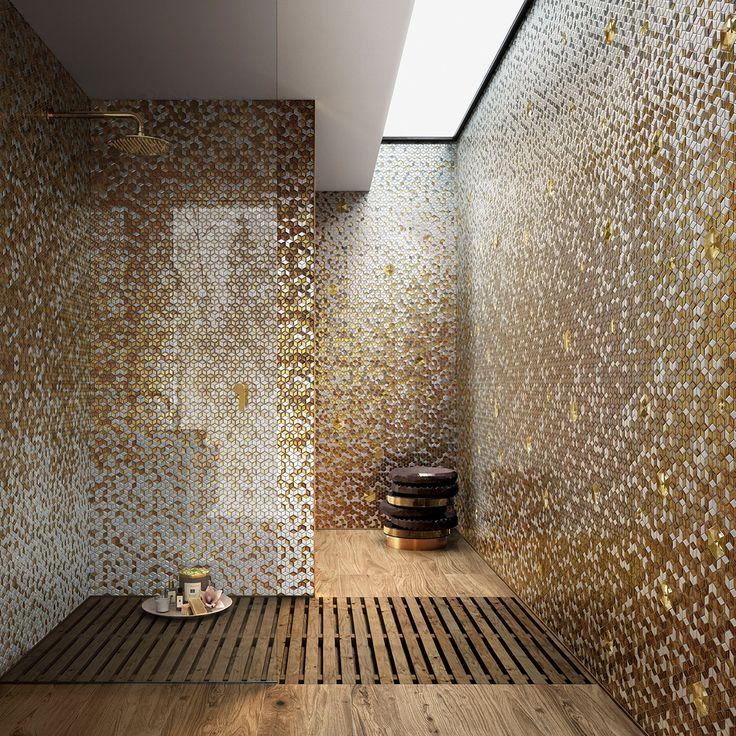 #sicis #mosaic #luxury #sicisdiamond #bathroom #shower #interiordesign
