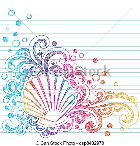 Vector - Sketchy Beach Oyster Seashell Doodl - stock illustration, royalty free illustrations, stock clip art icon, stock clipart icons, logo, line art, EPS picture, pictures, graphic, graphics, drawing, drawings, vector image, artwork, EPS vector art