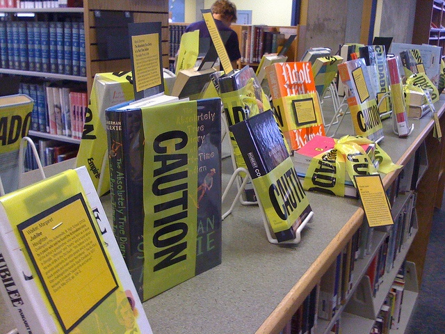 Banned Books Week Display - Banned Books Week is a fantastic and edifying event. What special events/collections does your school's library have in store?