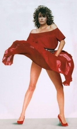 The lady in red, a classic of the 80's