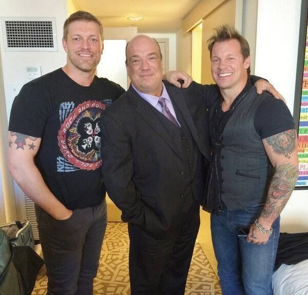 WWE's Edge, Paul Heyman, and Chris Jericho