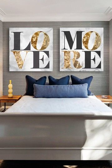 Oliver Gal Love You More Canvas Art - Set of 2  by Oliver Gal Gallery on @HauteLook