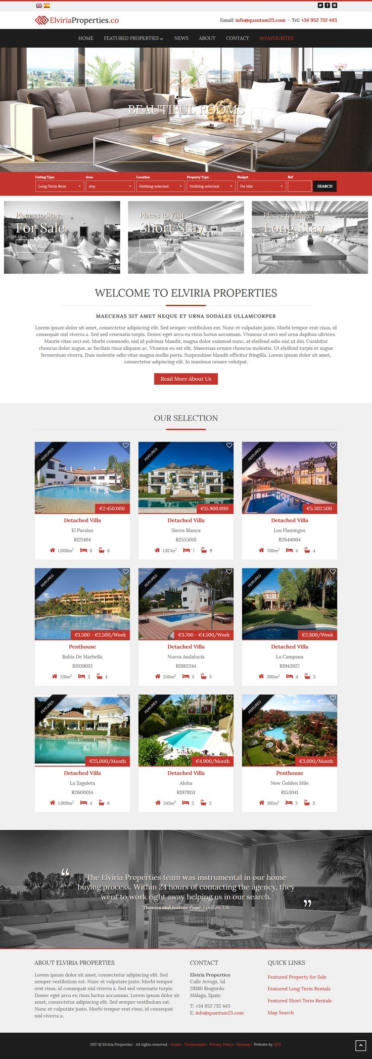 QRES On Demand pre-built theme for QRES Real Estate Web Solutions. #RealEstateSoftware #qresOD
