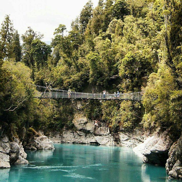 Bridge jump into glacier water in new Zealand,  I clearly remember the mental and fysical shock I got once I hit the water -  New Zealand