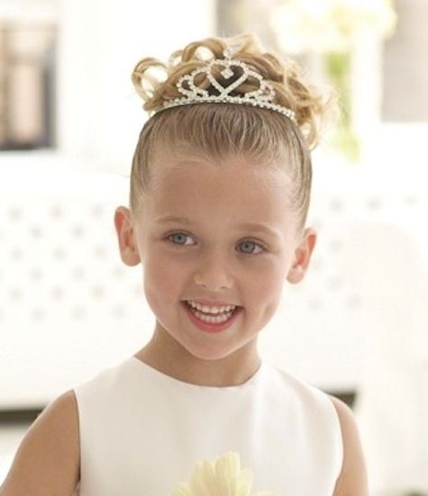 fine hair flower girl hair styles | Step 1: Gather hair into a high ponytail, leaving out a few loose ...