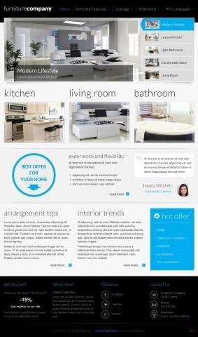 JM-Exclusive-Furniture, blue template version