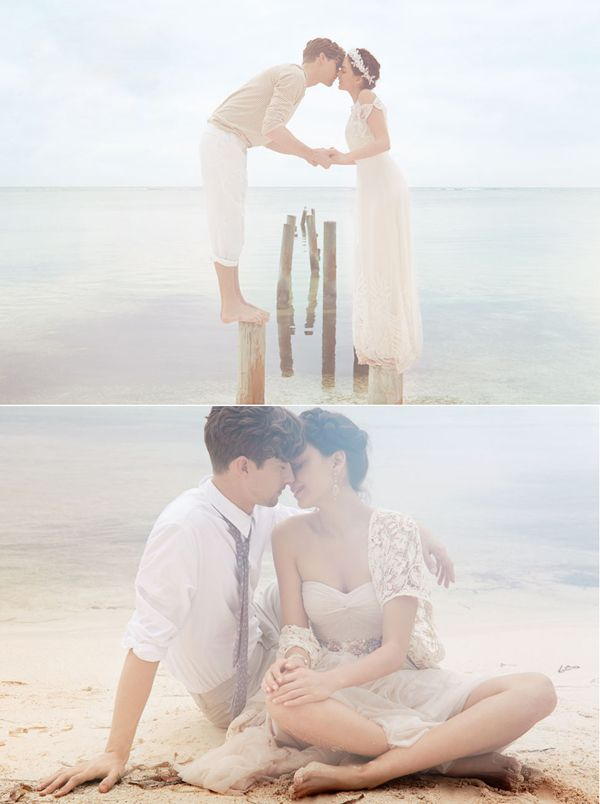 20 Romantic & Fun Beach Engagement Photos - BHLDN