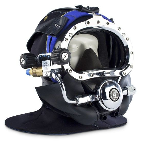 The fully tested and certified Kirby Morgan BandMask 28 with Male Waterproof Connectors may be used in mixed gas diving as well as shallow water diving.