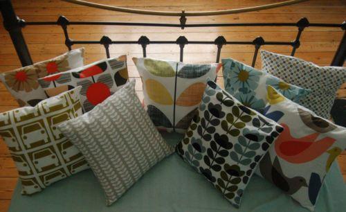 Handmade-Orla-Kiely-Fabric-Cushion-Cover-16x16-Stem-Sweet-Pea-Rhododendron