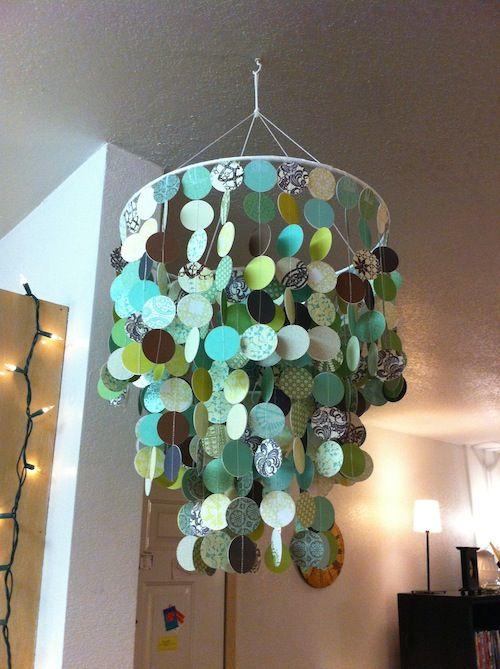 paper chandelier tutorial