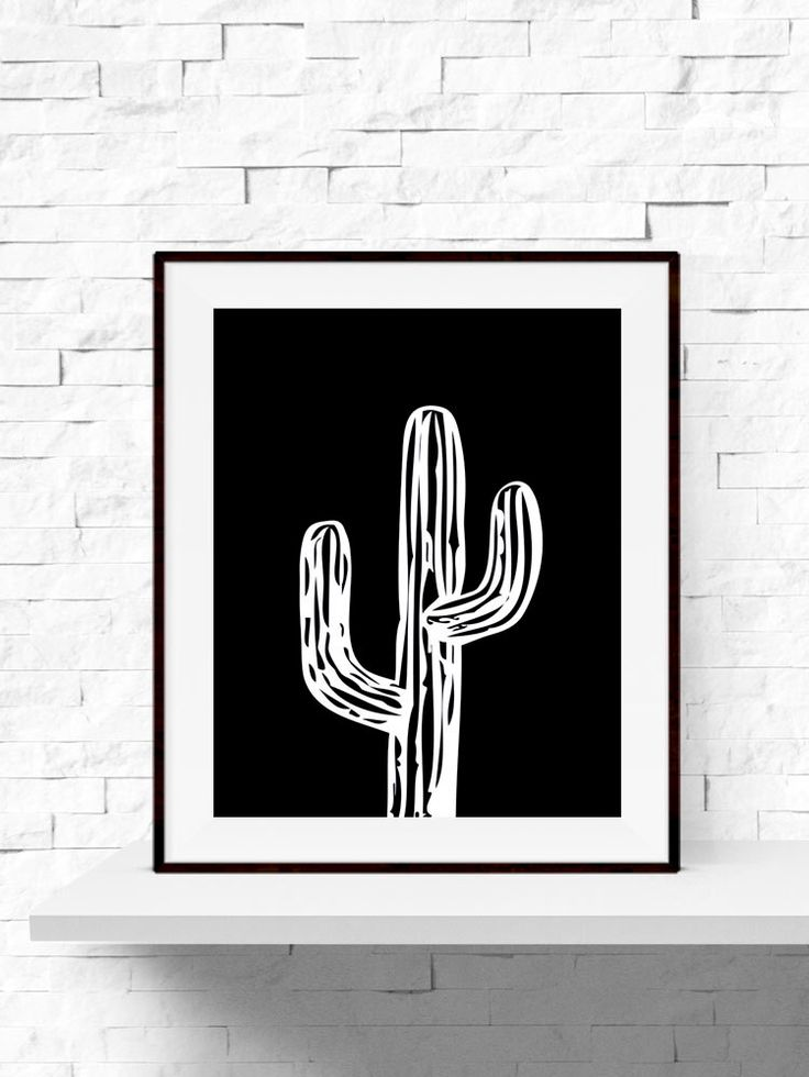 Cactus Print, Cactus Plant Garden Art Print, Cactus Printable, INSTANT DOWNLOAD, Home Decor, Printable Cactus Art, Black and White Wall Art by AshleeRaeDesigns on Etsy https://www.etsy.com/ca/listing/237478438/cactus-print-cactus-plant-garden-art