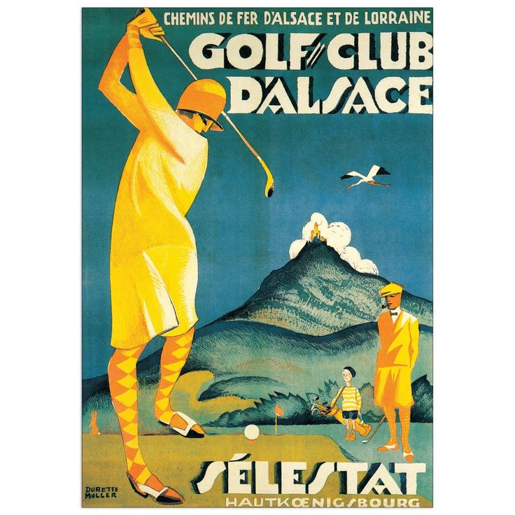 SELESTAT - Golf club d'Alsace 48x68 cm #artprints #interior #design #sports #print  Scopri Descrizione e Prezzo http://www.artopweb.com/EC20374