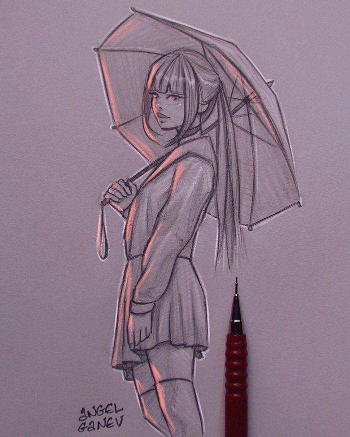 Der Künstler lässt seine Illustrationen ihr eigenes Licht haben und das Ergebnis ist unglaublich