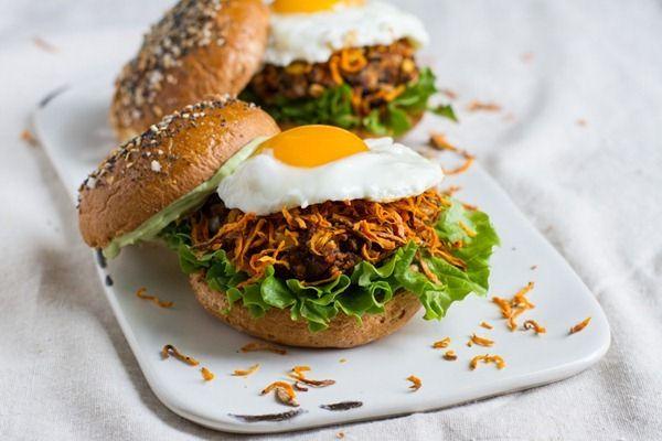 the ultimate loaded veggie burger | Veggie Burgers, Burgers and ...