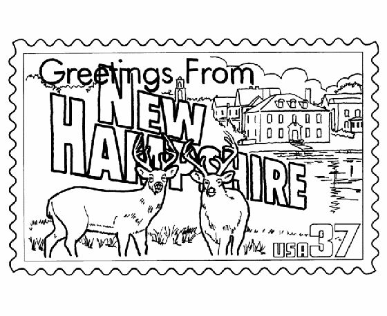 Best State Stamps Images On Pinterest Coloring Pages - Fun us states coloring map