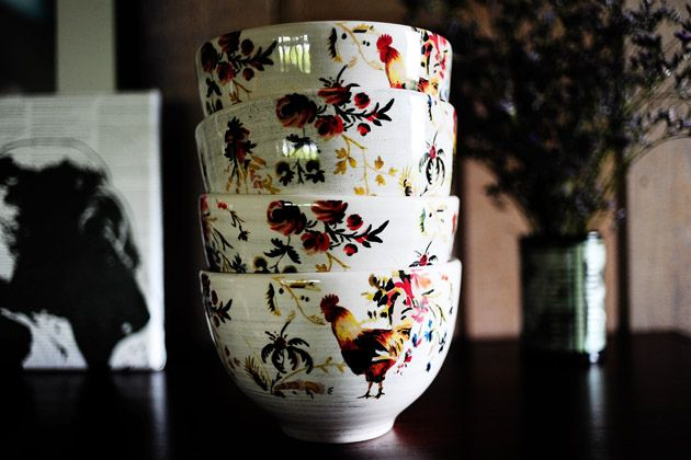 Rooster Francais Cereal Bowls Pioneer Woman Roosters