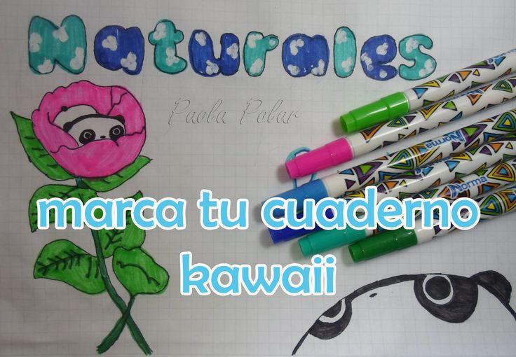 Ideas para marcar tus cuadernos Kawaii *Regreso a clases ... - photo#33