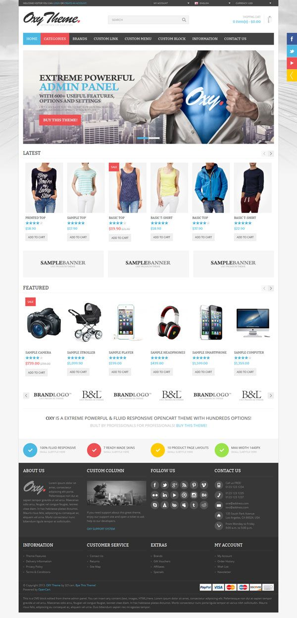 OXY - Online Shop OpenCart Theme