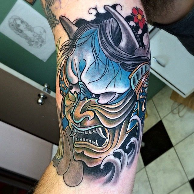 35 Redoubtable Japanese Mask Tattoos - Designs and Ideas