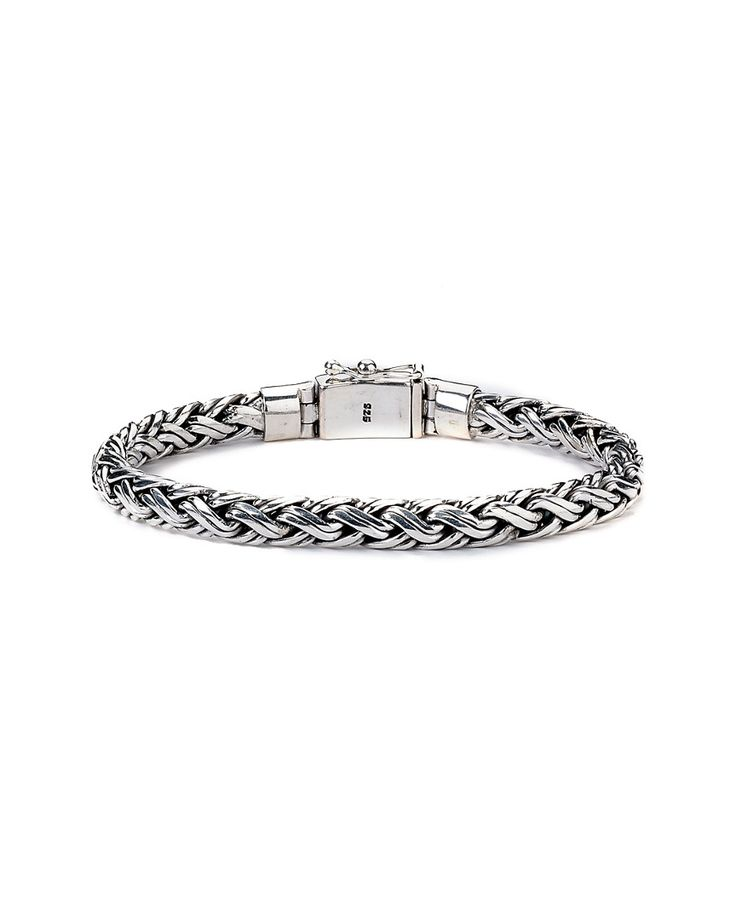 Samuel B. Imperial Silver Woven Bracelet I wear this bracelet all the time.