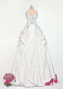 Forever Your Dress / Custom Wedding Dress Illustrations.  Wedding/ Bridal gift www.foreveryourdress.com