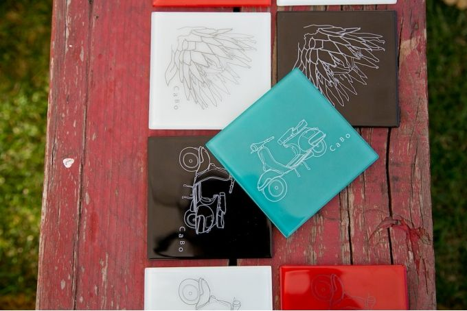 Glass coasters - set of 4 by Cabo Collaboration on hellopretty.co.za