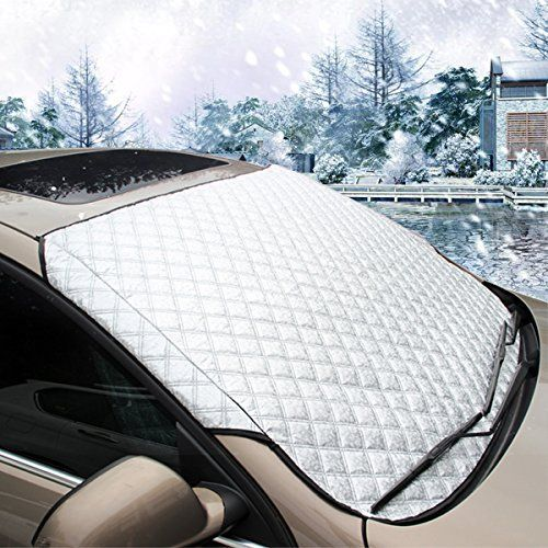 MATCC Car Windshield Snow Cover & Sun Shade Protector with Cotton Thicker Snow Protection Cover Fits Most of Car. For product info go to:  https://www.caraccessoriesonlinemarket.com/matcc-car-windshield-snow-cover-sun-shade-protector-with-cotton-thicker-snow-protection-cover-fits-most-of-car/