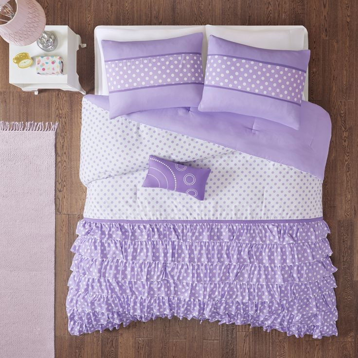 Purple Lindsey Comforter Set Twin/Twin XL 3pc, Adult