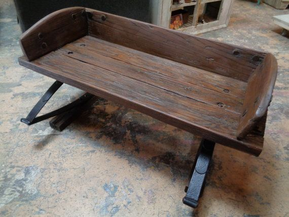 Antique Buggy Bench Seat Coffee Table By